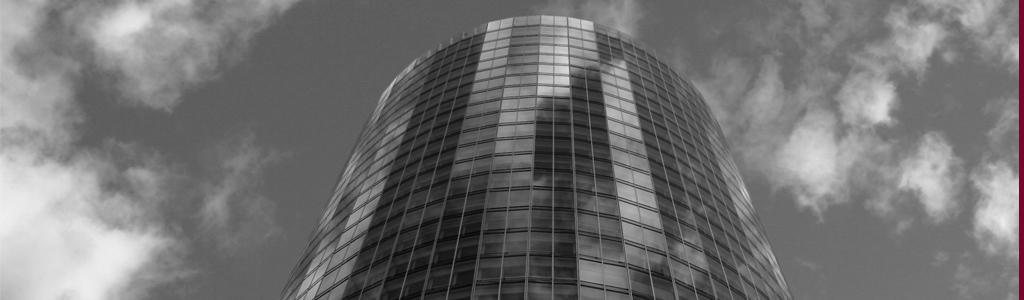 Runder Bürokomplex