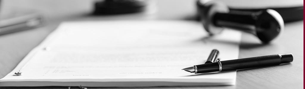 Stift auf einem Dokument