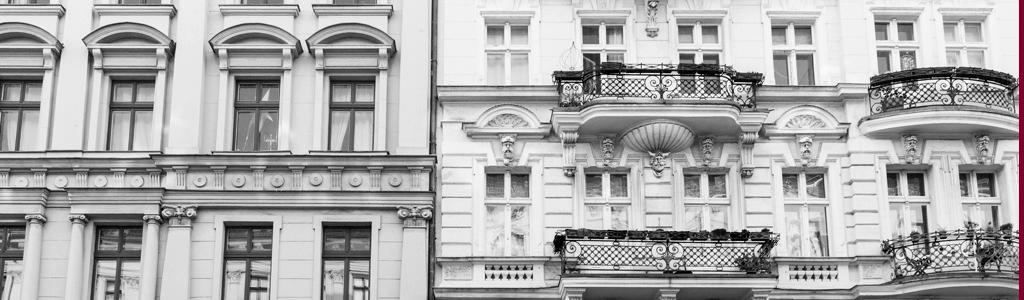 Fassaden von Altbauhäusern