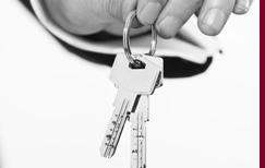 Hand holding bunch of keys