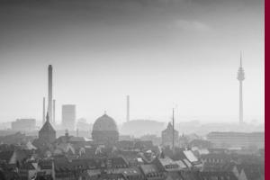 Nürnberg, Blick von der Burg in Richtung Fernmeldeturm