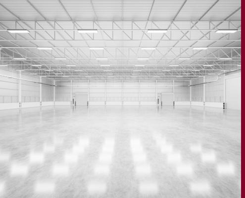 Große Lager- und Produktionshalle