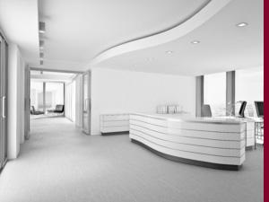 Moderner Empfang in Bürogebäude